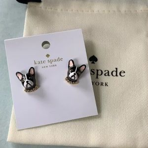 Kate Spade Ma Cherie Boston Terrier Stud Earrings